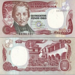 اسکناس 500 پزو - کلمبیا 1993