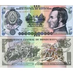 اسکناس 5 لمپیراس - هندوراس 2014