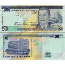 اسکناس 50 لمپیراس - هندوراس 2010