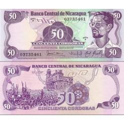 اسکناس 50 کردوبا - نیکاراگوئه 1984