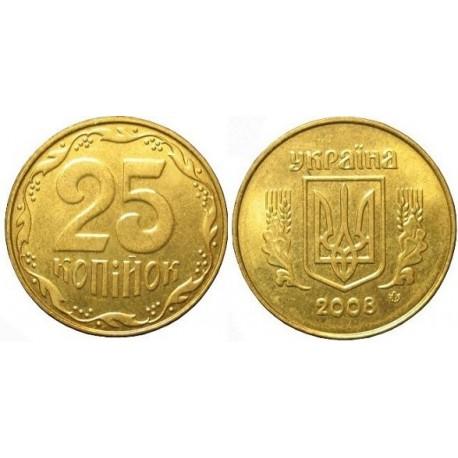 سکه 25 کوپک - آلومنیوم برنز - اوکراین 2011 غیر بانکی
