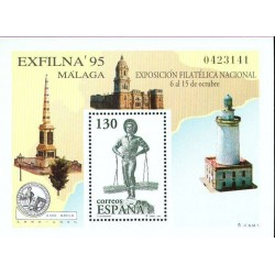 سونیرشیت نمایشگاه بین المللی تمبر اگزفیلنا - مالاگا - اسپانیا 1995
