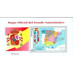سونیرشیت  نقشه مناطق خودمختار اسپانیا - اسپانیا 1996