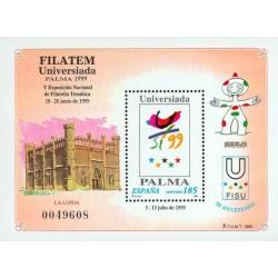 سونیرشیت نمایشگاه ملی تمبر فیلاتم - اسپانیا 1999