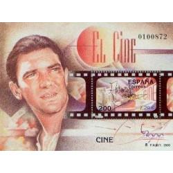 سونیرشیت نمایشگاه بین المللی تمبر  مادرید  2000 - آنتونیو باندراس بازیگر سینما - اسپانیا 2000