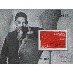 سونیرشیت نمایشگاه بین المللی تمبر  مادرید  2000 - جسوس دل پوزو طراح لباس - اسپانیا 2000