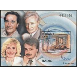 سونیرشیت نمایشگاه بین المللی تمبر  مادرید  2000 - رادیو و آنتن - اسپانیا 2000