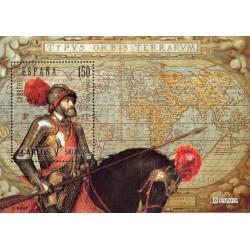 سونیرشیت تمبر مشترک با بلژیک - پانصدمین سال تولد شاه کارلوس پنجم - اسپانیا 2000