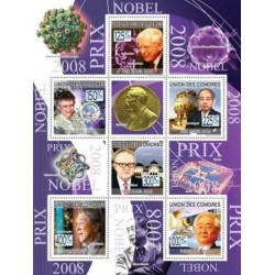مینی شیت برندگان جایزه صلح نوبل 2008  - کومور 2009 قیمت 9 دلار