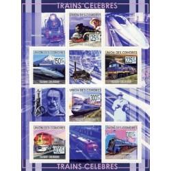 مینی شیت قطارهای معروف - کومور 2009 قیمت 9 یورو
