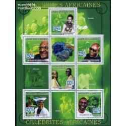 مینی شیت مشاهیر آفریقا - نلسون ماندلا - کومور 2009 قیمت 9 یورو
