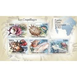 مینی شیت حیات دریائی - صدفها - 1 - کومور 2011 قیمت 14 دلار