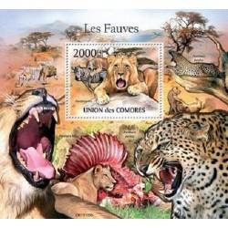 مینی شیت پستانداران - گربه سانان بزرگ - 2 - کومور 2011 قیمت 14 دلار