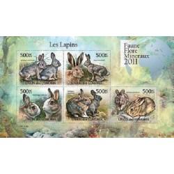 مینی شیت پستانداران - خرگوشها - 1 - کومور 2011 قیمت 11.64 دلار