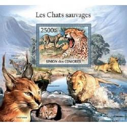 مینی شیت پستانداران - گربه های وحشی - 2 - کومور 2011 قیمت 14 دلار