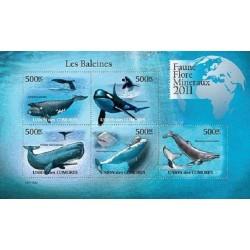 مینی شیت پستانداران - والها - 1 - کومور 2011 قیمت 11.64 دلار