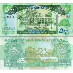 اسکناس 5000 شلینگ - سومالی لند 2011