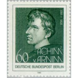 1 عدد تمبر 200مین سال تولد آخیم فون آرنیم - سازنده - برلین آلمان 1981