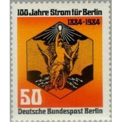 1 عدد تمبر صدمین سال الکتریسیته - برلین آلمان 1984