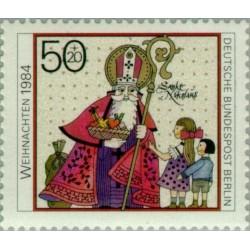 1 عدد تمبر کریستمس - برلین آلمان 1984