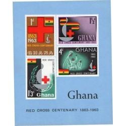 سونیرشیت صدمین سال تاسیس صلیب سرخ بین المللی - بیدندانه - غنا 1963