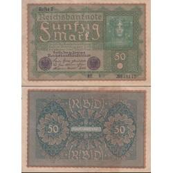 اسکناس 50 رایش مارک -رایش آلمان 1919 - چاپ اتریش - Reihe 2 - کیفیت مطابق عکس