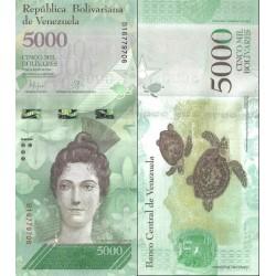 اسکناس 5000 بولیوار - ونزوئلا 2016