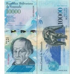 اسکناس 10000 بولیوار - ونزوئلا 2016