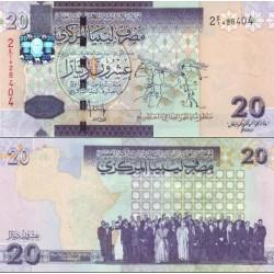 اسکناس 20 دینار - لیبی 2009  - 99%