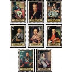 8 عدد تمبر روز تمبر - تابلوهای نقاشی اثروینسنته لوپز پورتانا - اسپانیا 1973