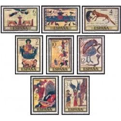 8 عدد تمبر روز تمبر - تابلوهای نقاشی - اسپانیا 1975