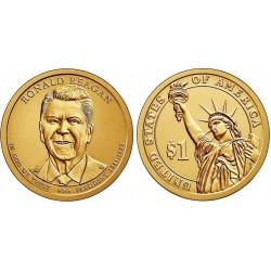 سکه 1 دلار یادبود رونالد ریگان - 40مین رئیس جمهوری - آمریکا 2016