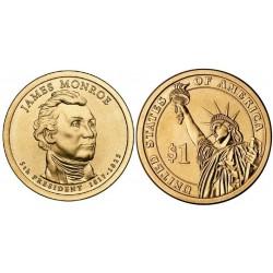 سکه 1 دلار یادبودویلیام جیمز مونرو - 5مین رئیس جمهوری - آمریکا 2008