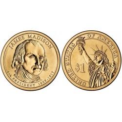 سکه 1 دلار یادبود جیمز مدیسون -چهارمین رئیس جمهوری - آمریکا 2007
