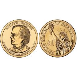 سکه 1 دلار یادبود آندره جانسون -17مین رئیس جمهوری - آمریکا 2011