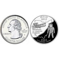 سکه کوارتر - ایالت اوهایو - آمریکا 2002 غیر بانکی