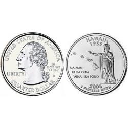 سکه کوارتر - ایالت هاوایی - آمریکا 2008 غیر بانکی
