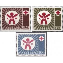 3 عدد تمبر  صلیب سرخ - شیر و خورشید - یوگوسلاوی 1977