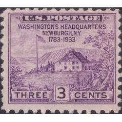 1 عدد تمبر یکصدو پنجاهمین سال اعلام صلح بین ایالات متحده و بریتانیا- آمریکا 1933