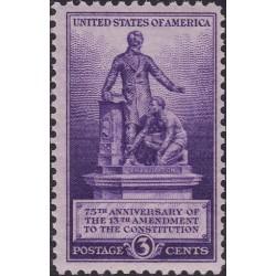 1 عدد تمبر اصلاحیه سیزدهم - بنای یادبود لینکلن و برده - آمریکا 1940