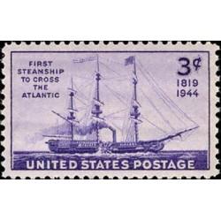 1 عدد تمبر 125مین سالگرد عبور اولین کشتی بخار از آتلانتیک - آمریکا 1944