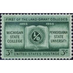 1 عدد تمبر صدمین سال کالج های لند گرنت - آمریکا 1955