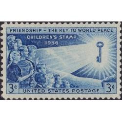 1 عدد تمبر کودکان جهان - آمریکا 1956