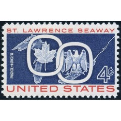1 عدد تمبر راه دریایی سنت لورنس - آمریکا 1959