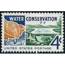 1 عدد تمبر حفاظت از آب - آمریکا 1960