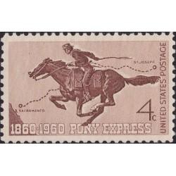 1 عدد تمبر پست پیشتاز چاپاری - آمریکا 1960