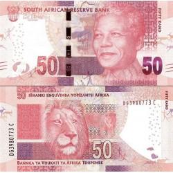 اسکناس 50 رند - تصویر نلسون ماندلا - آفریقای جنوبی 2013