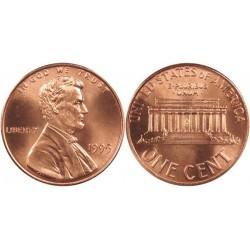 سکه 1 سنت - برنجی - آمریکا 1995غیر بانکی
