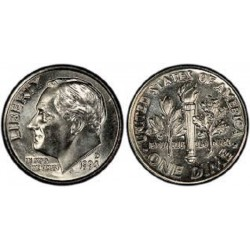 سکه 10 سنت - نیکل مس - آمریکا 1994 غیر بانکی