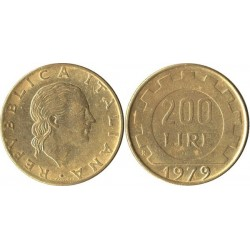 سکه 200 لیر - مس نیکل آلومنیوم- ایتالیا 1979غیر بانکی